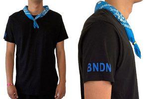 BANDANA black/BLUE・LIGHT BLUE